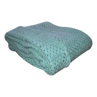 Handmade Turquoise Crochet Blanket