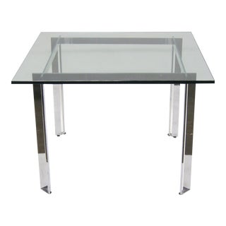 Chome and Glass Dining Table by James Howell for Tri-Mark
