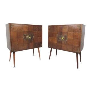 Pair Vintage Cabinets by John Stuart