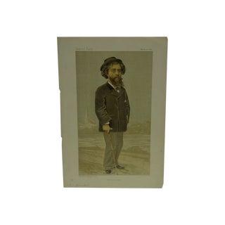 """Vintage """"He Wrote Sapho"""" Vanity Fair Print"""