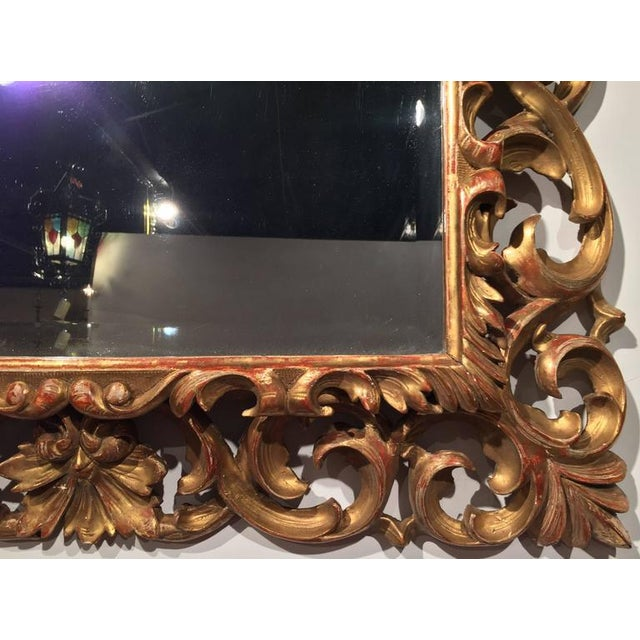 19th Century French Carved & Gold Leaf Rectangular Wall Mirror - Image 5 of 6