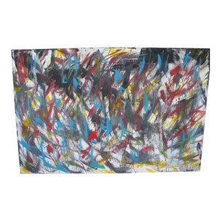 Abstract Expressionist Oil on Canvas Painting
