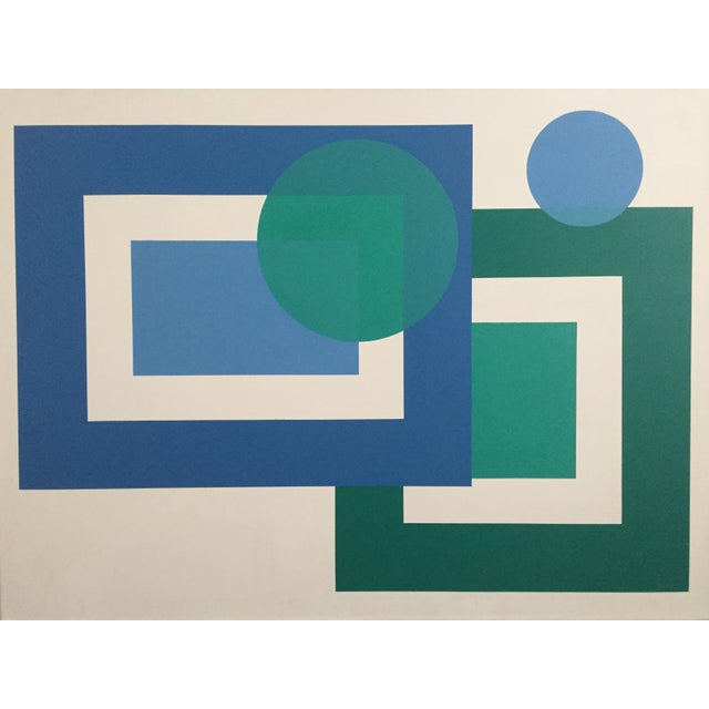 1971 Hard Edge Abstract Fredrick Gaertner - Image 1 of 10