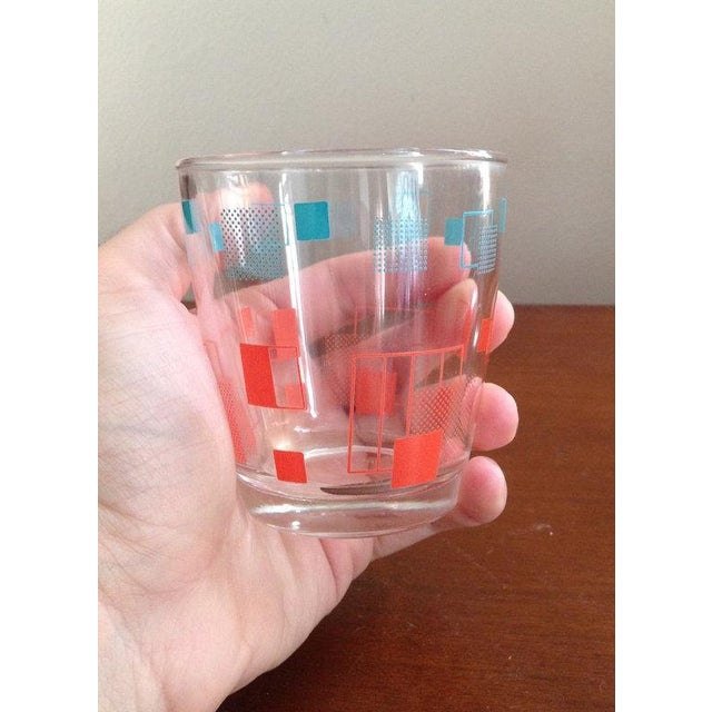Retro Grid Cocktail Glasses - A Pair - Image 3 of 4