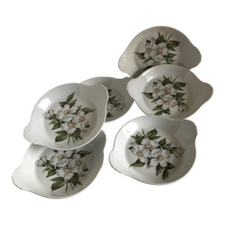 Vintage French Floral Side Dishes - Set of 6