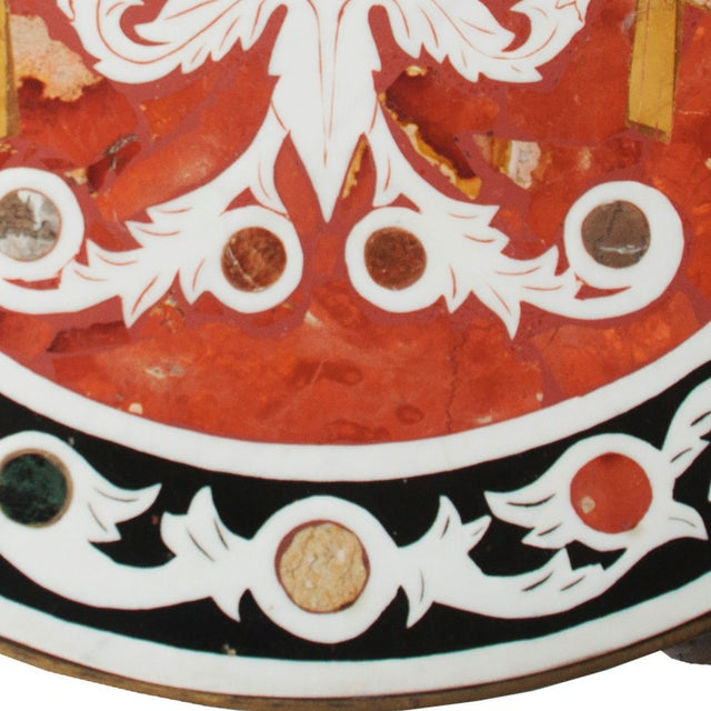 Vintage Pietra Dura Mosaic Side Table - Image 3 of 8