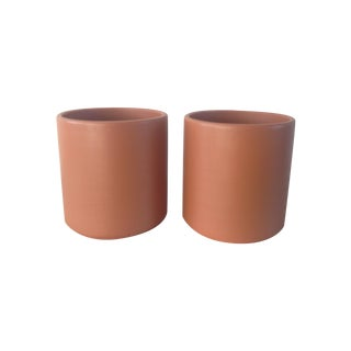 Small Midcentury Gainey Ceramics Planters - Pair