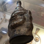 Image of Rare Peruvian Signed Figural Decanter C. 1958
