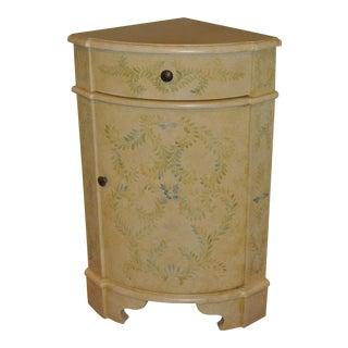 Cream-Colored Corner Cabinet