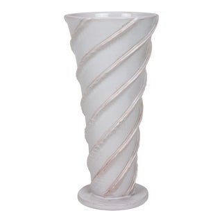 Tapered Spiral Ceramic Vase