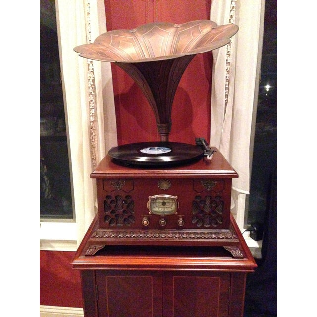 Mahogany Gramophone Replica - Image 3 of 5