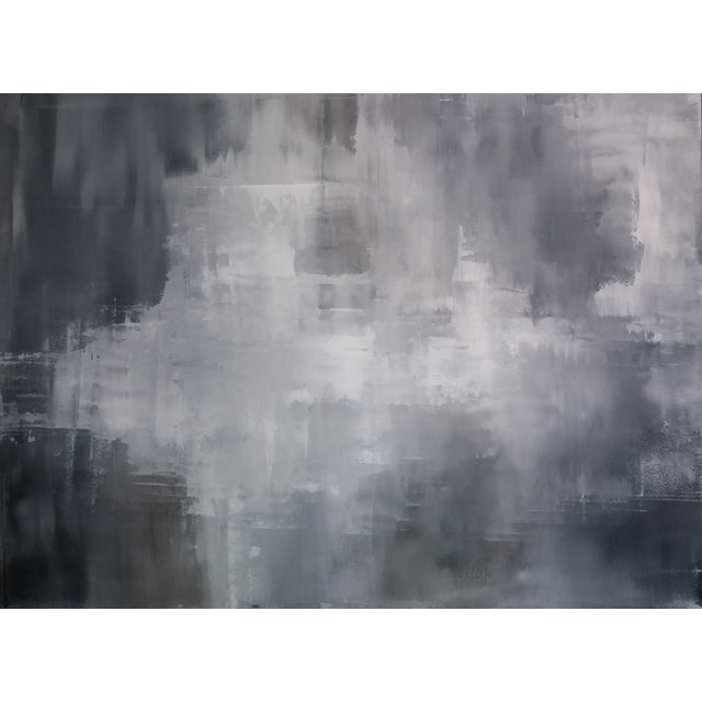 """""""Greys"""" Original Abstract Art by Kris Gould - Image 1 of 5"""