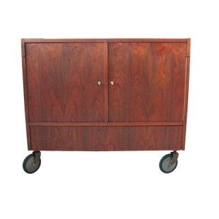 Vintage Mid-Century Rolling Bar Cabinet