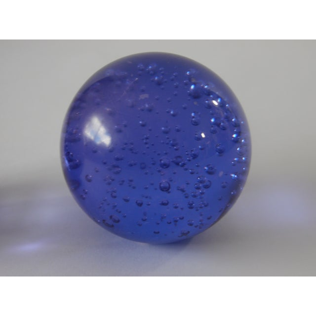 Pair Controlled Bubble Glass Paperweight - Image 4 of 8