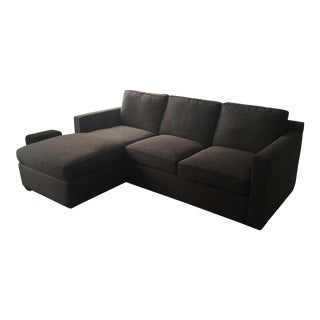 Crate & Barrel Charcoal Davis 3-Seat sofa