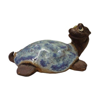 Modern Ceramic Turtle Figure