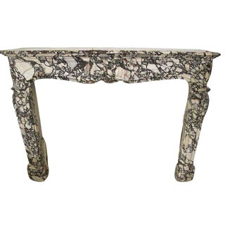 Louis XV Style French Marble Mantel