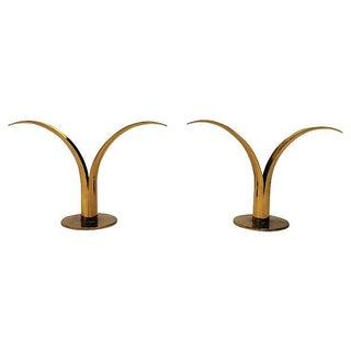 Brass Candleholders by Ivar Alenius-Bjork