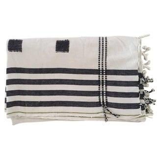 Myanmar Cotton Black & White Throw