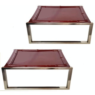 Vintage French G. Lefevre for Maison Jansen Side Tables - Pair