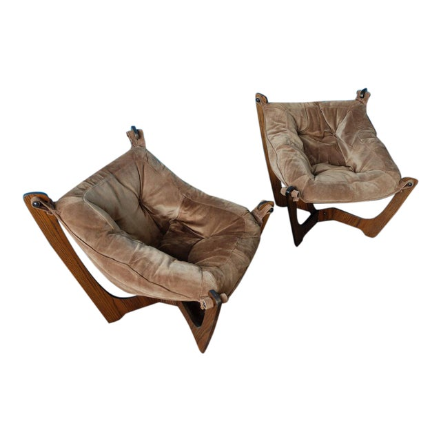 Luna Chairs by Odd Knutsen for Img Norway - A Pair - Image 1 of 10