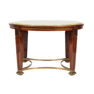 1930s Regency Style Onyx Coffee Table