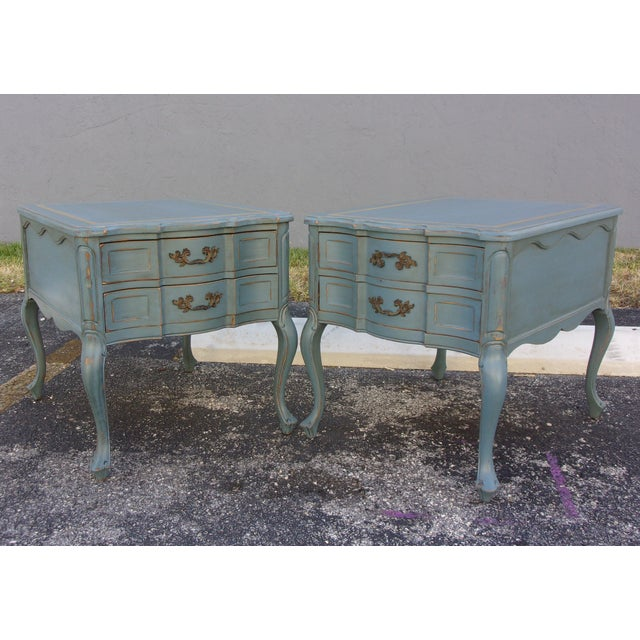 Vintage French Provincial Nightstands - A Pair - Image 2 of 10