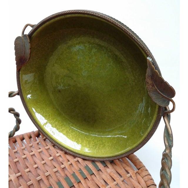 Enameled Evans Green Ashtray - Image 4 of 7