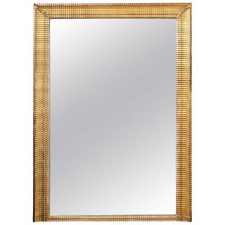 Large Size French Giltwood Rectangular Mirror from the Turn of the Century