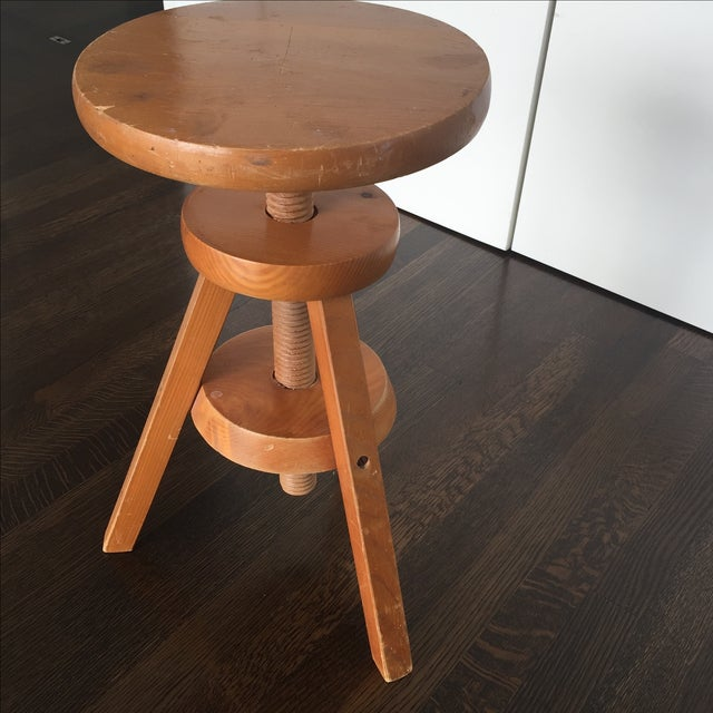 Wooden 3-Legged Side Table - Image 3 of 5