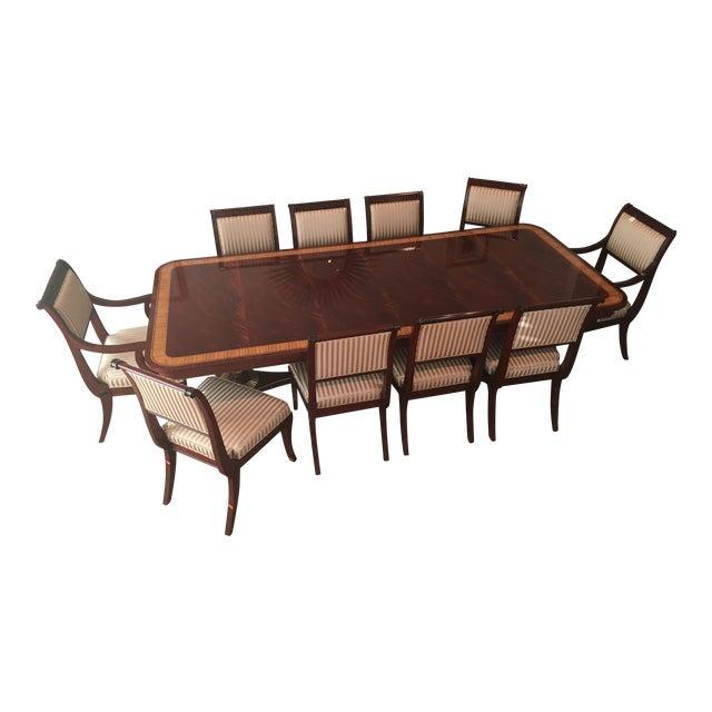 Baker Mahogany Dining Set - Set of 11 - Image 1 of 5