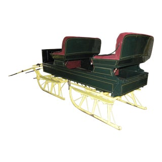 Restored Equestrian Antique Horse Sleigh Winter Bobsled