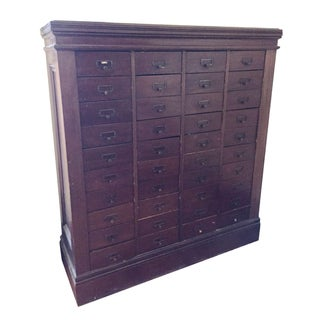 Antique 40-Drawer Filing Cabinet