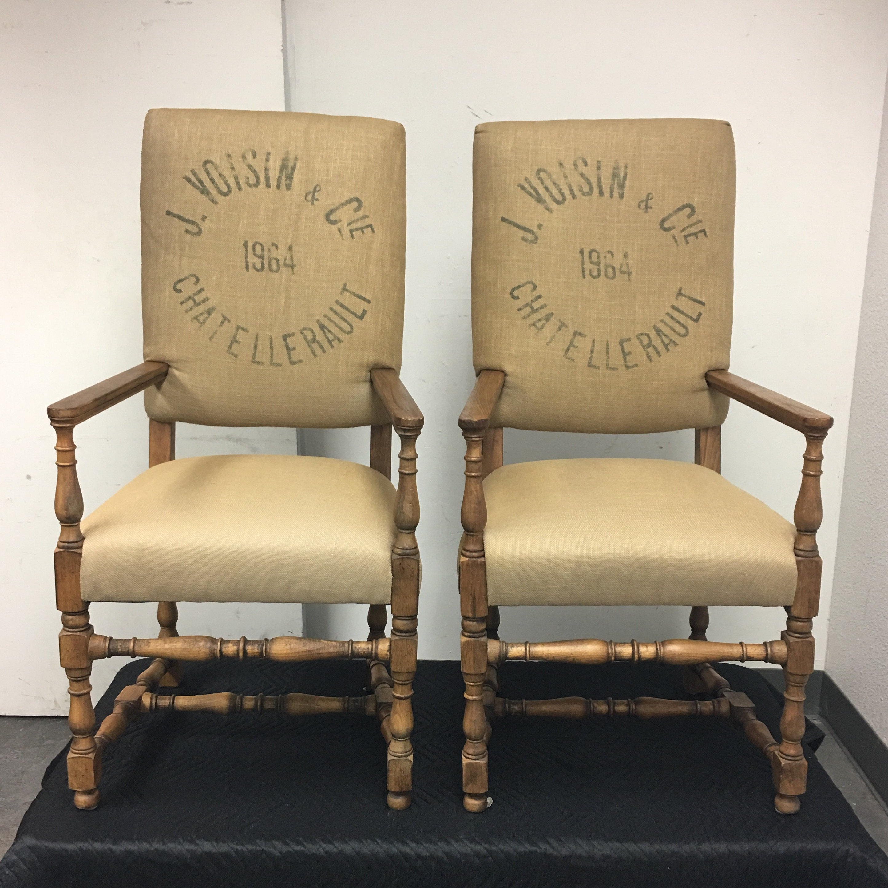 restoration hardware english baroque printed chairs a pair image 2 of 8