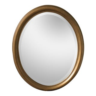 Antique Framed Gold Oval Mirror