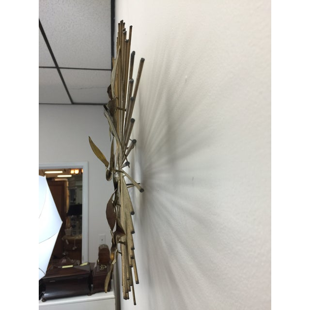 Curtis Jere Sunburst With Birds Wall Sculpture - Image 5 of 8