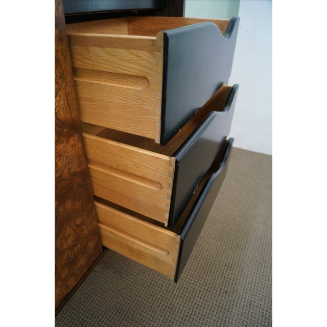 Image of Harvey Probber Burl Wood Sideboard Credenza