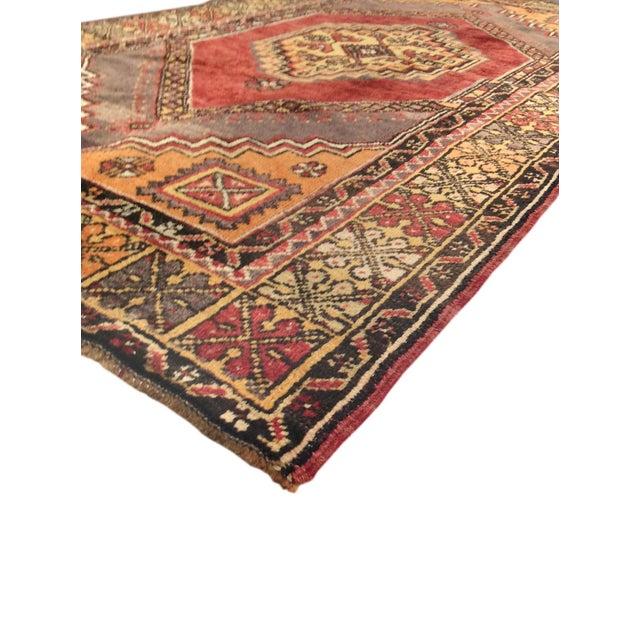 """Vintage Turkish Oushak Size: 3'9""""x4'8"""" - Image 2 of 3"""