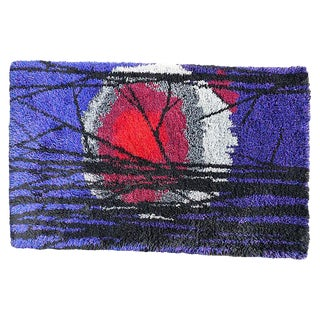 Danish Modern Rya Knotted Wool Rug