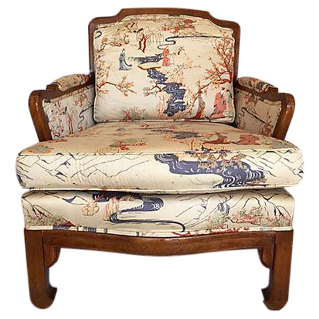 Vintage Chinoiserie Ming Style Wooden Chair - Image 1 of 7