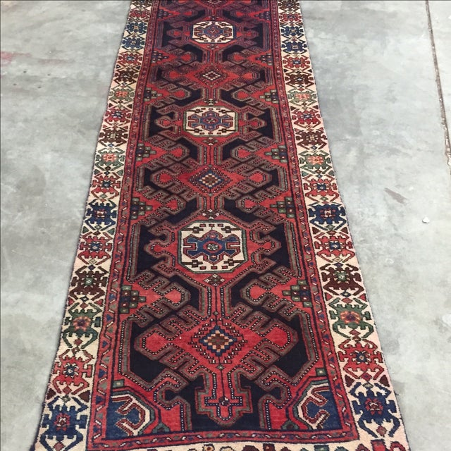 Persian Hamadan Runner - 2′11″ × 10′6″ - Image 3 of 9