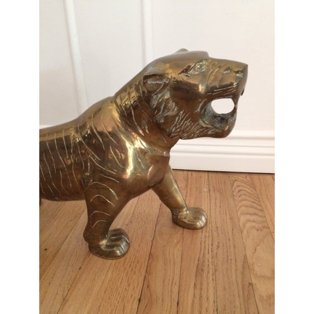 Large Vintage Brass Tiger - Image 6 of 9