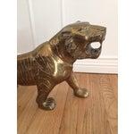 Image of Large Vintage Brass Tiger