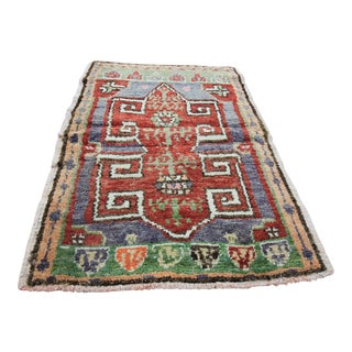 Vintage Turkish Oushak Tribal Rug- 2' x 2'10""