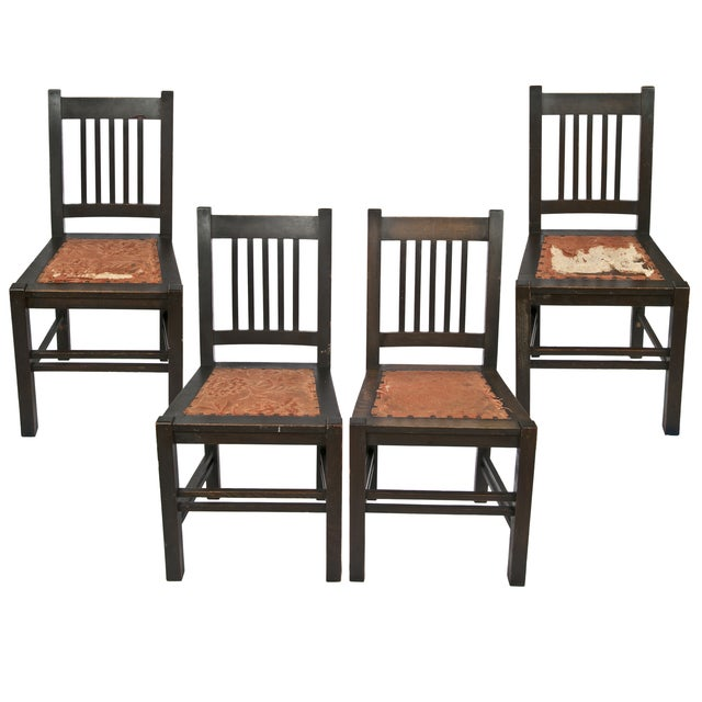 Gustav Stickley Quaint Dining Chairs - Set of 4 - Image 1 of 7