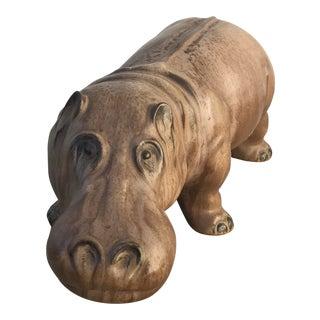 Mid-Century Vintage Ceramic Hippo
