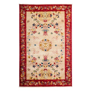 "Hand-Knotted Wool Rug - 5'2"" x 7'10"""