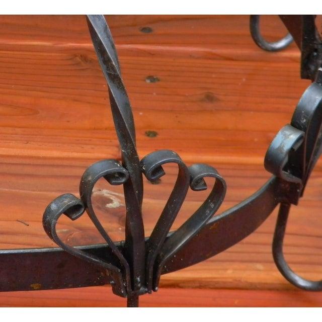 Image of Fleur d'Lis Design Ceiling Mounted Oval Pot Rack