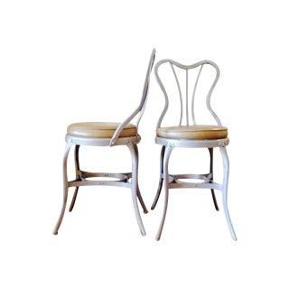 "Toledo ""Uhl Art Steel"" Chairs - Pair"