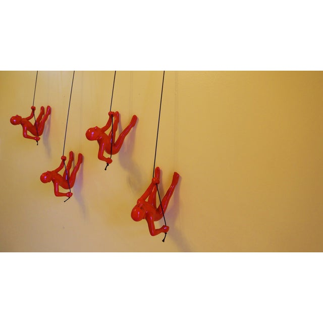 Red Climbing Man Wall Art - Set of 4 - Image 6 of 6